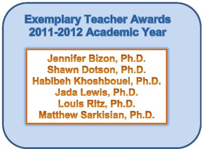 Exemplary Teacher Awards