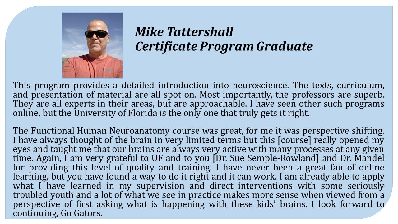 Biomedical Neuroscience Certificate Program Department Of