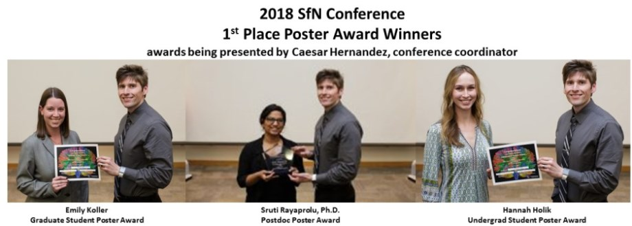 2018 SfN Conf Poster Awardees