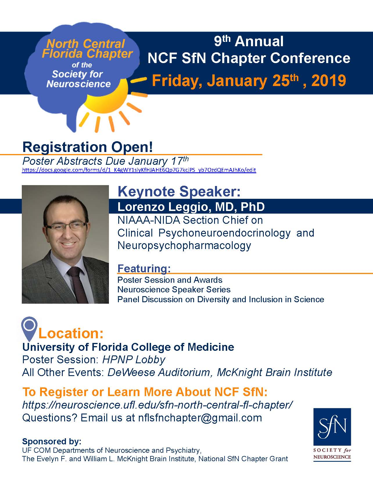 2019 SfN NCF Chapter Conference » Department of Neuroscience