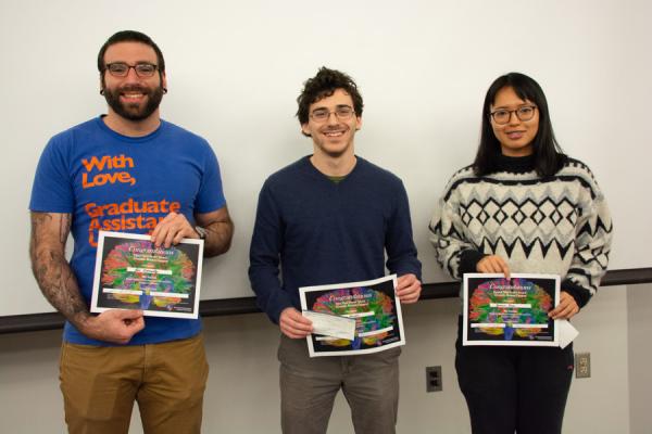 Graduate poster award winners.