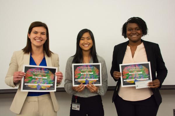 Undergraduate poster award winners.
