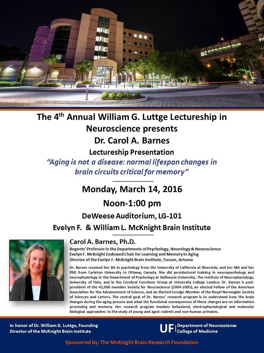 Luttge 2016 Promotional Flyer for 4th Annual Luttge Lectureship