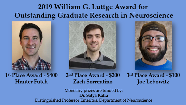 2019 Luttge Award Recipients