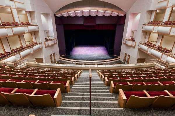 Inside the philips center auditorium