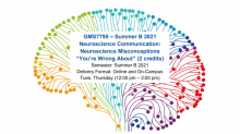 """GMS7795 – Summer B 2021 Neuroscience Communication: Neuroscience Misconceptions """"You're Wrong About"""" (2 credits)"""