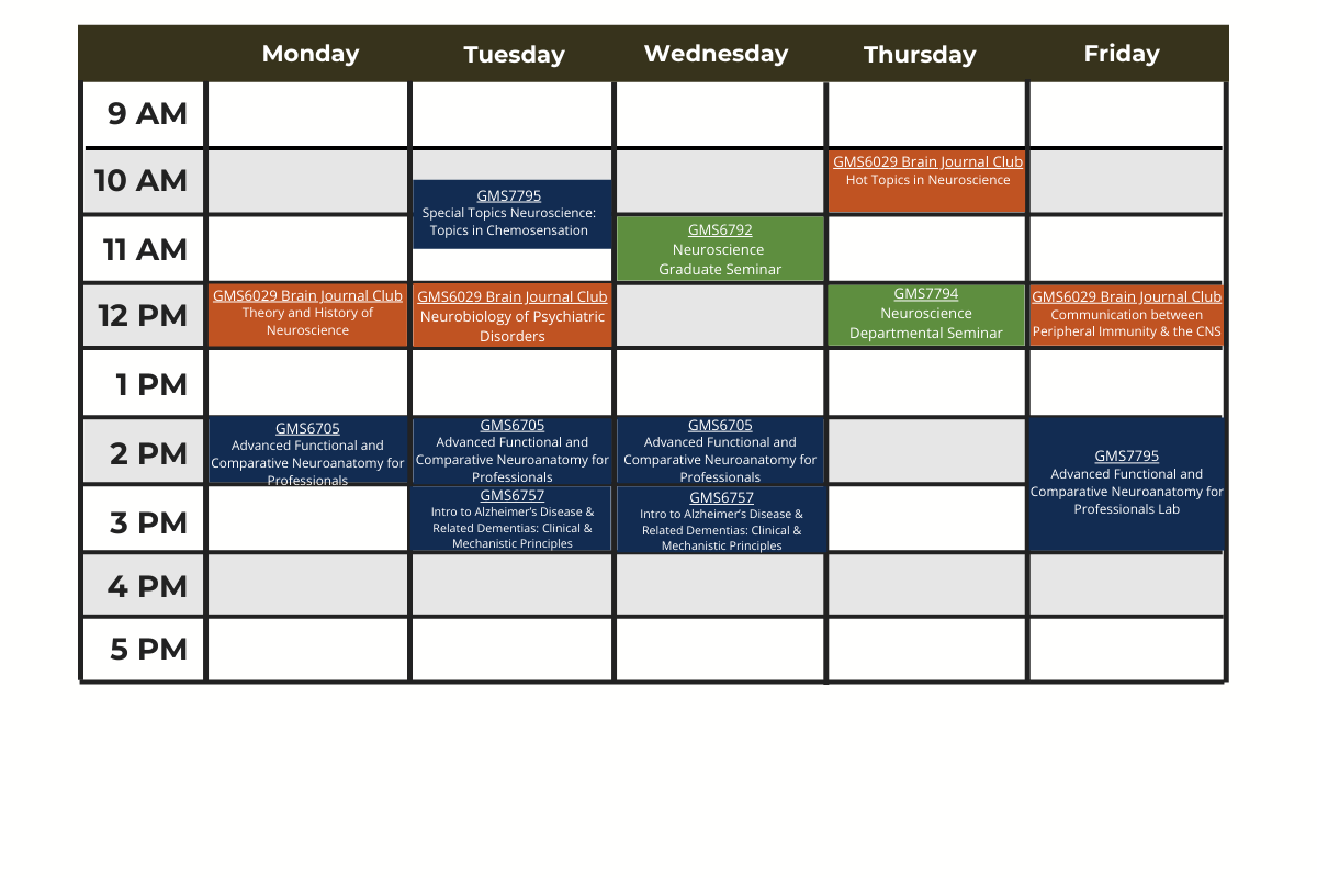 Fall 2021 Course Schedule